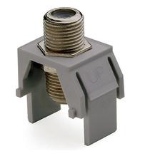 Non-Recessed Nickel F-Connector, Gray