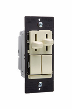 LS Series Dual Fan Speed Control/Dimmer, Ivory
