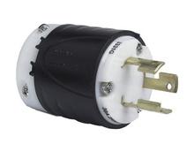 30 Amp Non-NEMA 3 Wire Plug - Yellow, Grounding