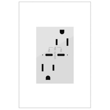 adorne 15A Tamper Resistant Receptacle Ultra Fast 30 Watts of Power Delivery USB White