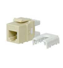 Quick Connect RJ25 6-Position, 6-Conductor Telephone Keystone Insert, Ivory