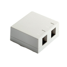 Surface Mount Box 2-Port, Ivory