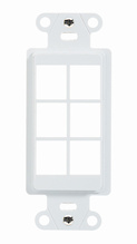 6-Port Decorator Outlet Strap, White
