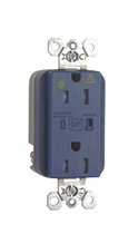 Tamper-Resistant Hospital Grade Isolated Ground Surge Protective Duplex Receptacle, Blue