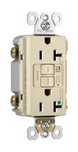 Hospital-Grade Audible Alarm Tamper-Resistant 20A Self-Test Duplex GFCI, Light Almond