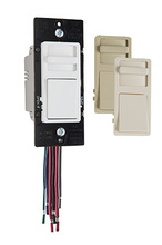 Wide Slide 0-10V Preset Dimmer with Integrated Power Pack, Tri-Color