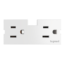 Outlet Module (15A), White