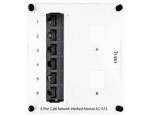 6-Port Cat 6 Network Interface Module