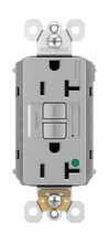 PlugTail® Hospital-Grade Tamper-Resistant 20A Self-Test GFCI Receptacle, Gray