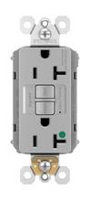 PlugTail® NAFTA-Compliant Hospital-Grade Tamper-Resistant 20A Self-Test Duplex GFCI, Gray