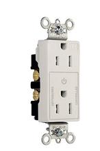 Heavy-Duty Decorator Spec Grade 15A Plug Load Controllable Receptacle, White