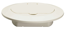Tamper-Resistant Floor Box Thermoplastic Cover, Light Almond