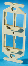TRACJACK 106-TYPE FRAME, FOUR-PORT, ELECTRICAL IVORY