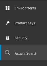 Select Acquia Search in the UI
