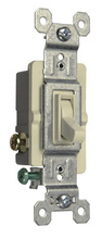 15A,120V TradeMaster® Self-Grounding/3-Way Toggle Switch, Light Almond
