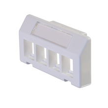 KEYSTONE FURNITURE ADAPTER PLATE, HOLDS 4 KEYSTONE MODULES, WHITE