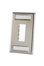 TRACJACK STAINLESS STEEL FACEPLATE, TWO-PORT Single gang plate