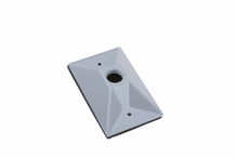 Outdoor Lamp Cluster Cover for Single Gang Box, Gray