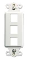 3-Port Decorator Outlet Strap, White, 10-Pack