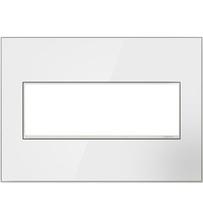 adorne® Mirror White Three-Gang Screwless Wall Plate