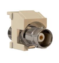 Keystone BNC-to-BNC Connector, Light Almond