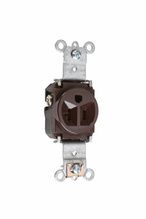 Heavy-Duty Spec Grade Single Receptacles, Back & Side Wire, 20A, 125V, Brown