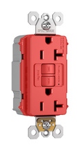 NAFTA-Compliant PlugTail® Spec-Grade 20A Self-Test Duplex GFCI, Red