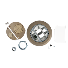 Evolution 6ATCFF Series Recessed Furniture Feed Assembly with Surface Style Cover