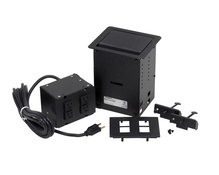 InteGreat™ All Power Table Box, Cord Ended, Black