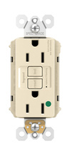 PlugTail® Hospital-Grade Tamper-Resistant 15A Self-Test GFCI Receptacle, Light Almond