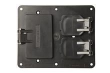 2-Gang Flip Lid 1-GFCI And 1-Duplex Cover Plate, Black