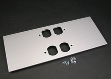 AL5200 Large Multi-Channel Raceway Double Duplex Cover Plate