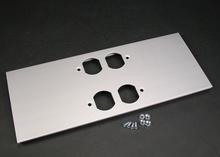 AL5200 Large Multi-Channel Raceway Double Duplex Cover Plate