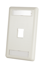 HDJ 1-Port Single-Gang Faceplate with Label Field