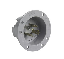 20 Amp NEMA L1420 Inlet, Gray
