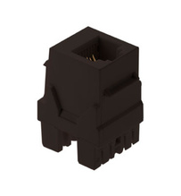 6P6C Keystone Connector, Brown