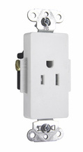 Tamper-Resistant Heavy-Duty Decorator Spec Grade Single Receptacle, Back & Side Wire, 15A, 125V, White