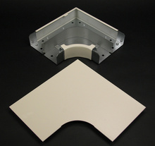Wiremold 4000 Series Radiused Full Capacity Flat Elbow Fitting, Ivory