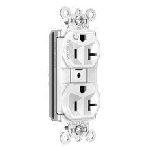 PlugTail® Heavy-Duty Spec Grade Plug Load Controllable Receptacle, 20A, 125V, White