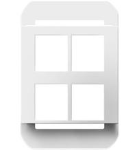 4-Port Frame, White