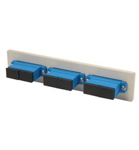 Fib-Cop II Bottom Adapter Plate, 3-SC Duplex (6 Fibers) Single Mode, Blue adapters
