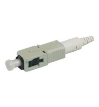 SC PC reusable connector, field-installable, 62.5/125 LOMF
