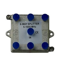 6-Way Vertical Coax Splitter (1 GHz)