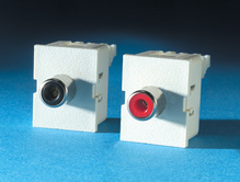 Two TracJack Modules, Phono/RCA to 110, Fog White