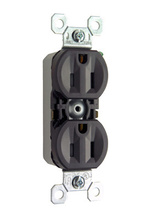 15A/125V TradeMaster Tamper-Resistant 8-Hole/Push Wire Receptacle, Brown