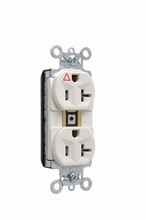 PlugTail® Isolated Ground Spec Grade Receptacles, 15A, 125V, Light Almond