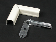 Wiremold 700 Series Flat Elbow Fitting, Ivory