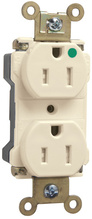PlugTail® Extra Heavy-Duty Hospital Grade Tamper-Resistant Receptacles, 15A, 125V, Ivory