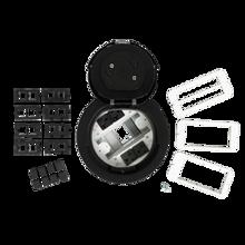 6AT Prewired Evolution™ Poke Thru Device, Flush Style Cover, Black