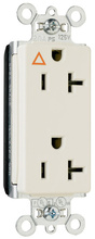 PlugTail® Isolated Ground Decorator Spec Grade Receptacles, 20A, 125V, Ivory
